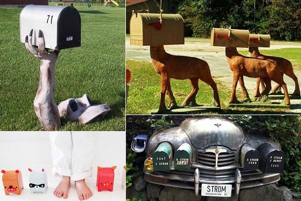 Креативно оформленные почтовые ящики