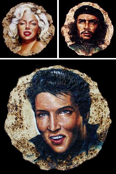 Портреты легендарных личностей на тортилье от Joe Bravo