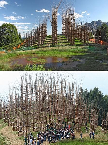Необычная церковь La Cattedrale verde - эко-проект Giuliano Mauri