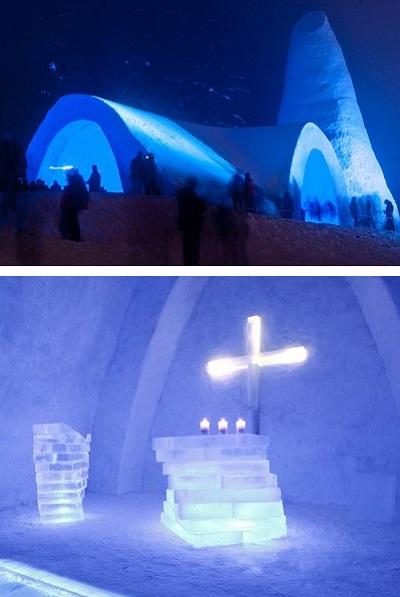 Снежная церковь в баварской деревне Миттерфирмиансройт