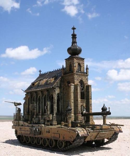 Скульптура Church Tank  Type 5 от Chris Kuksi