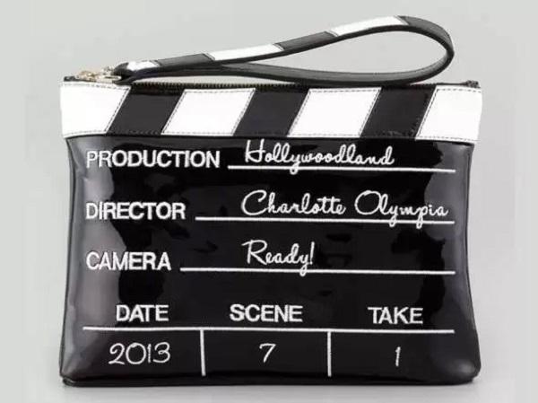 Сумочка хлопушка для кинодив от Charlotte Olympia
