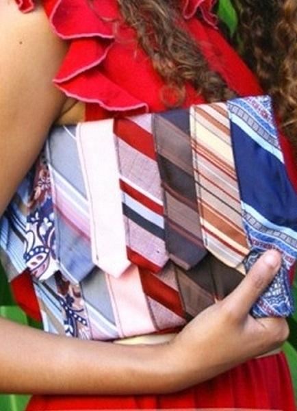 Галстучный клатч ручной работы от DIY-дизайнера Christine Wick