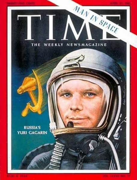 Космический первопроходец Юрий Гагарин на обложке журнала Time