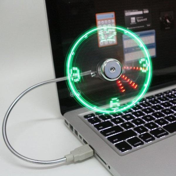 Часы-вентилятор USB LED Fan Clock - один из лучших гаджетов-новогодних подарков для мужчин