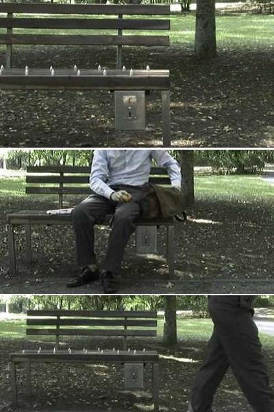 Pay & Sit Park Bench - 'корыстная' лавочка-торговый автомат от Fabian Brunsing