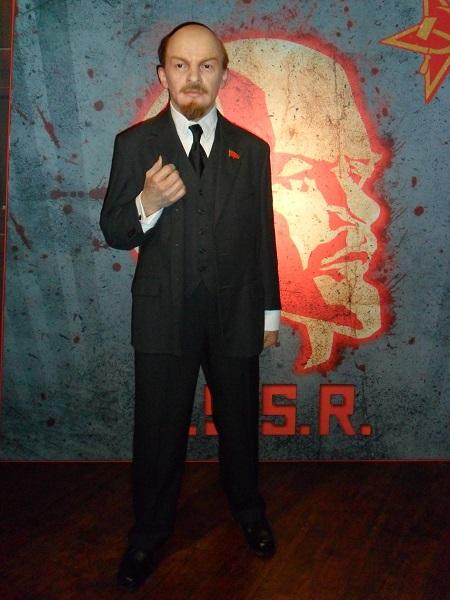 Восковая фигура Ленина в Madame Tussauds museum в Амстердаме