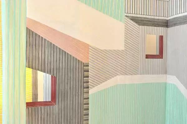 Оптические иллюзия на обоях от Wies Preijde