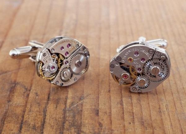 Watch movement cufflinks - оригинальные запонки из винтажных часов