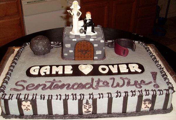 Свадебный торт Game over