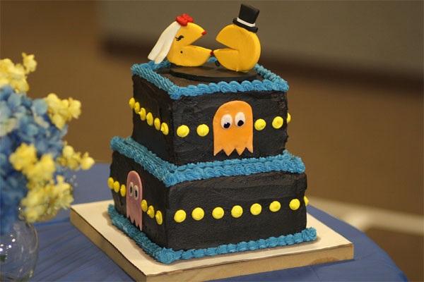 Свадебный торт для геймеров Pac-man