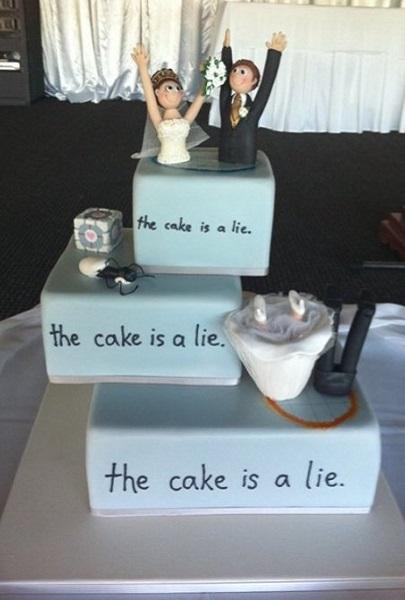 'Portal wedding cake'