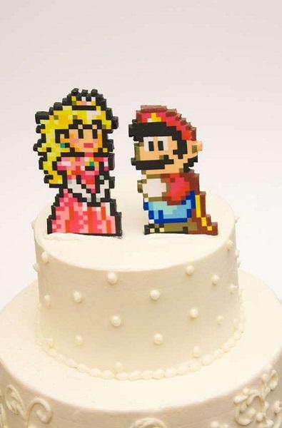 Свадебный торт для геймеров Mario