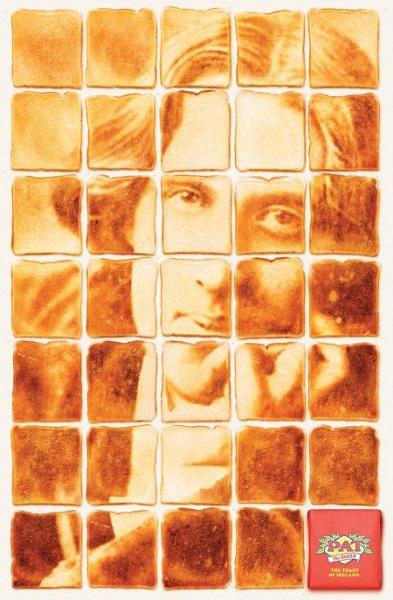 Портрет Оскара Уайлда из рекламной серии The toast of Ireland
