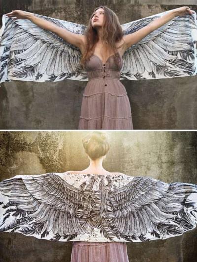Winged Scarf от Roza of Shovava - креативный шарф для мечтателей