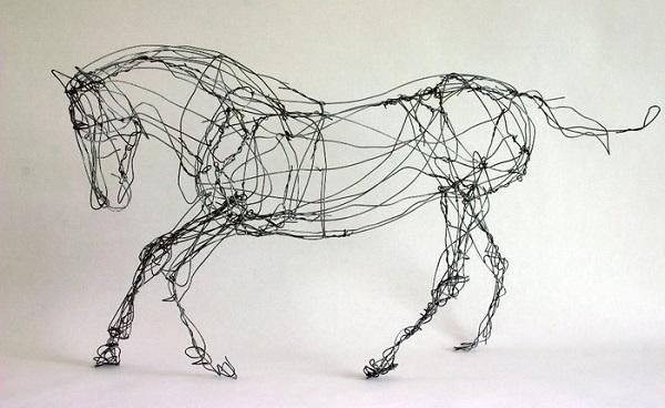 Проволочная скульптура от Chris Moss