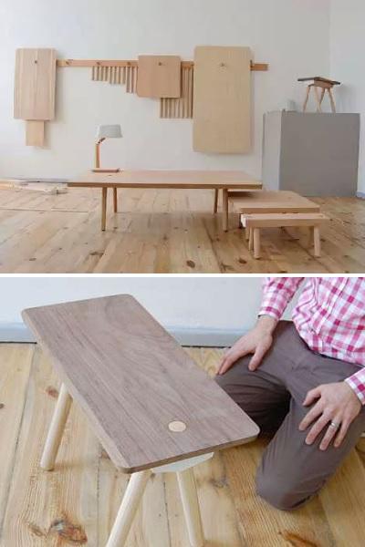 Wood Peg Collection - практичная мебель и настенный декор от Studio Gorm