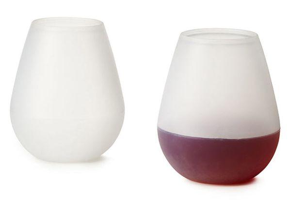 Оригинальные силиконовые бокалы Glasse для мартини и вина