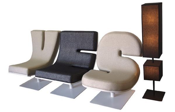 Кресла</a> Typographia в виде букв и цифр