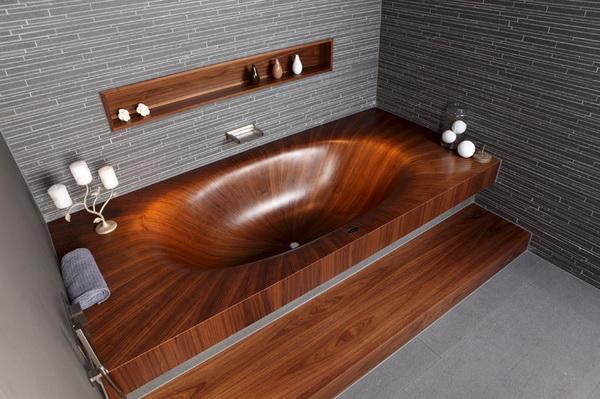 Стильные деревянные ванны