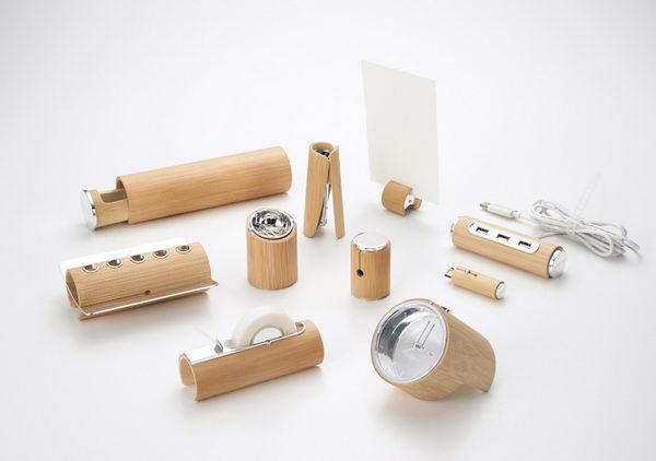Коллекция канцелярских принадлежностей «Empty Bamboo» из бамбука