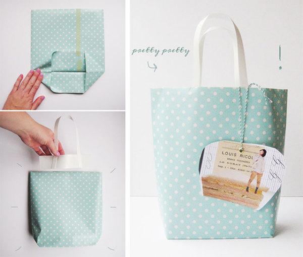 подарочный пакет собственными руками
