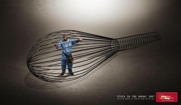 Реклама, которая борется с нелюбимой работой.