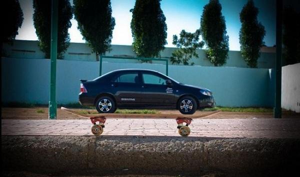 Машина-скейт.