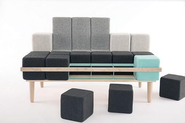 Модульный диван Bloc'd: собираем конструкцию самостоятельно