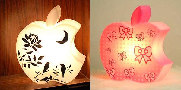 светильники в виде надкушенных яблок