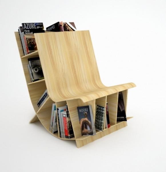 книжная полка-кресло