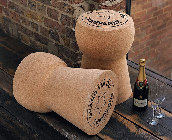 Champagne Cork Stool: стул, стол и кулер