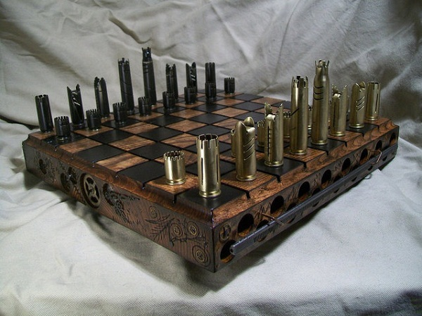 Шахматы из пуль мелкого калибра