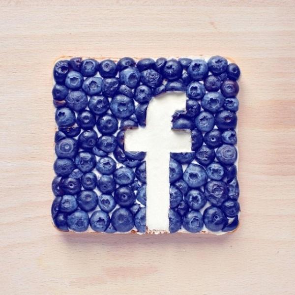 Вкусный логотип Фейсбука.
