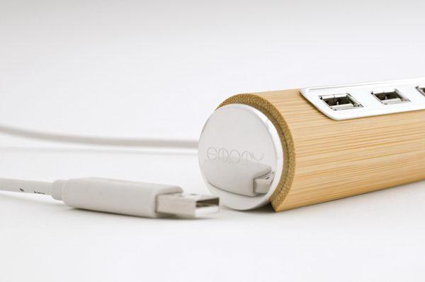 USB-концентратор из бамбука