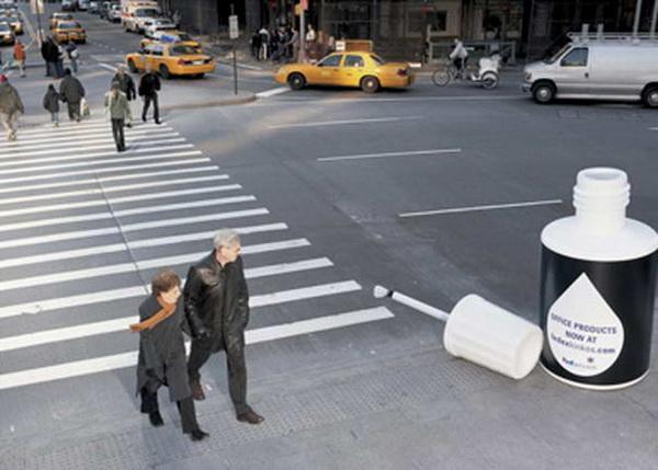 Оригинальный переход для пешеходов, нарисованный корректором