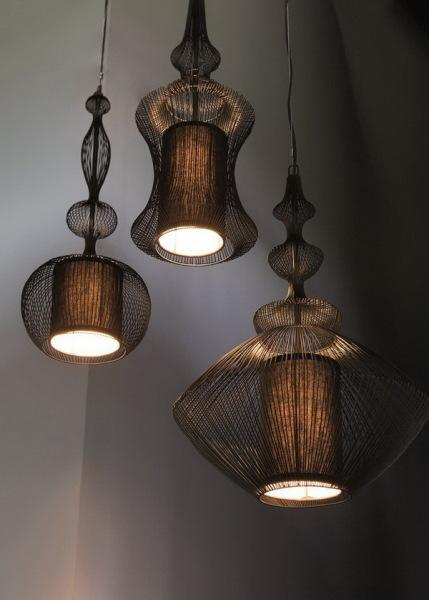 Светильники из медной проволоки Fil de fer