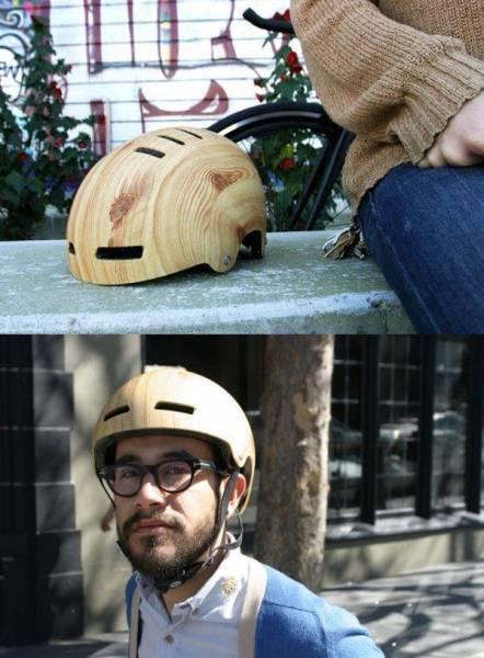 деревянный мотоциклетный шлем