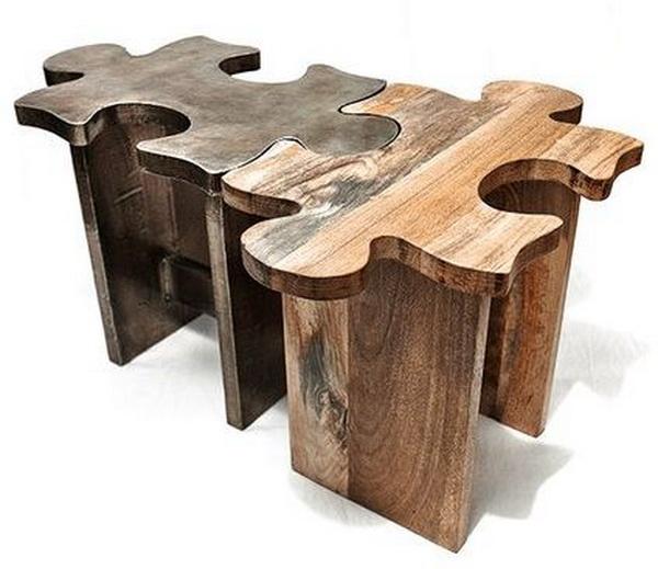 Jigsaw puzzle stool