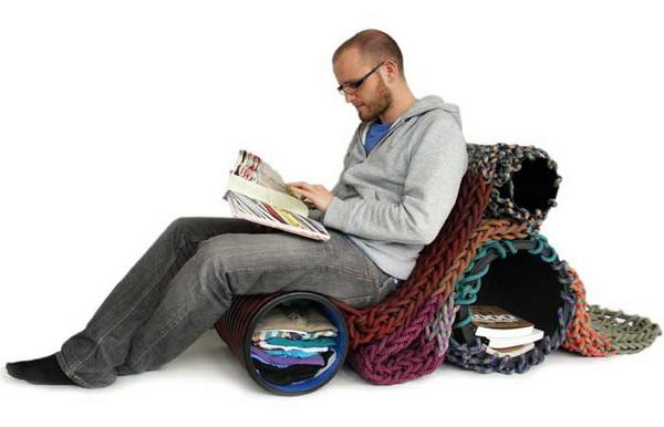 Вязаная мебель от Angelika Hess