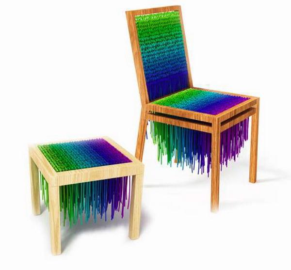 Baita - вязаные стулья от Heinz Muller и Helena Baita Bueno