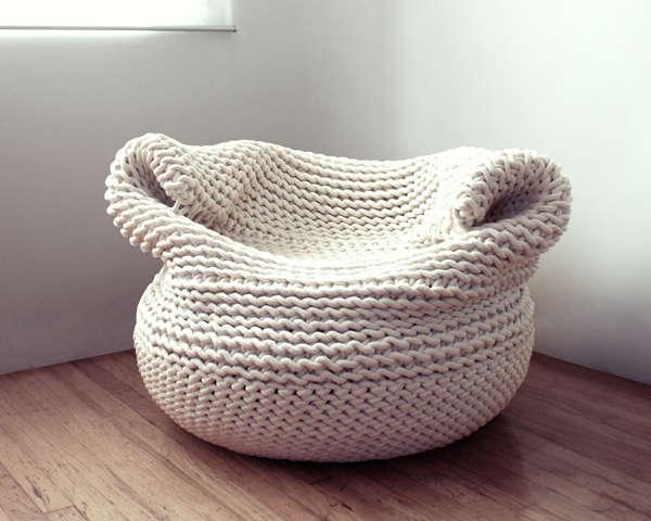 Вязаное кресло-мешок Bdoja