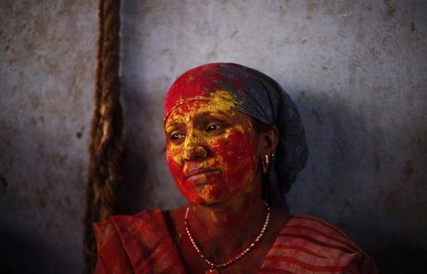Lathmar Holi в Индии