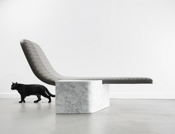 Кресло из мрамора Lounge Chair Opper