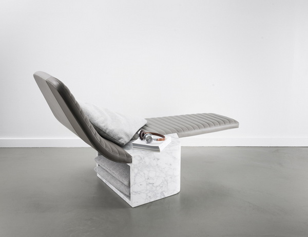 Lounge Chair Opper: кресло из мрамора
