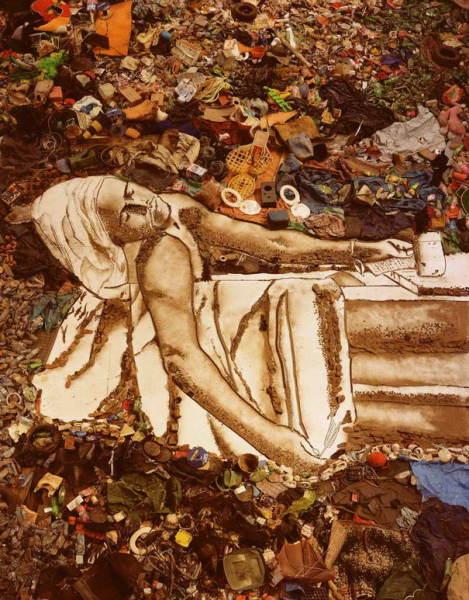 Портрет революционера Жана Поля Марата, написанный обычным мусором