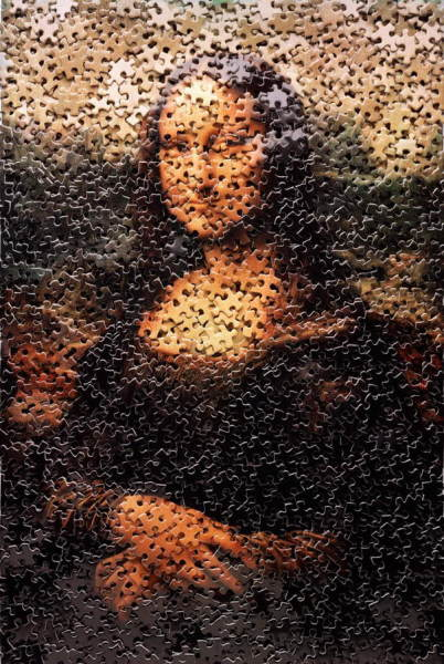 Мона Лиза из россыпи пазлов