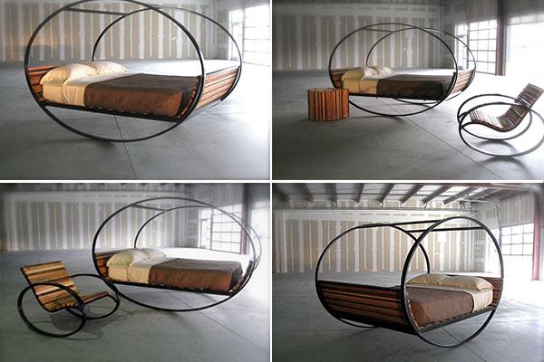 Кровать-качалка Mood Rocking Bed от компании Shiner