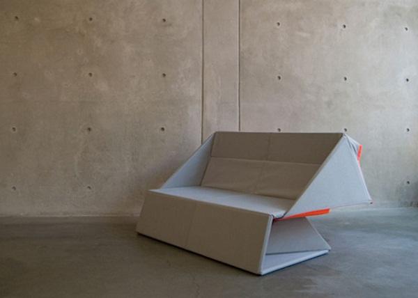 Софа-оригами от дизайнера Yumi Yoshida