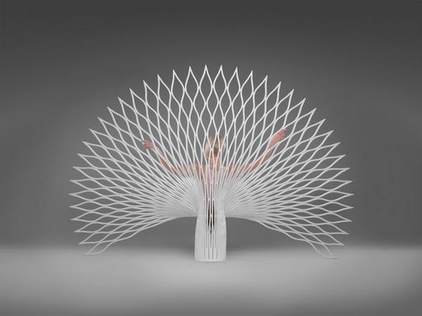 Оригинальное кресло Peacock в форме павлина